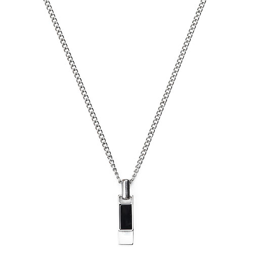 M Layered Short Bar Necklace