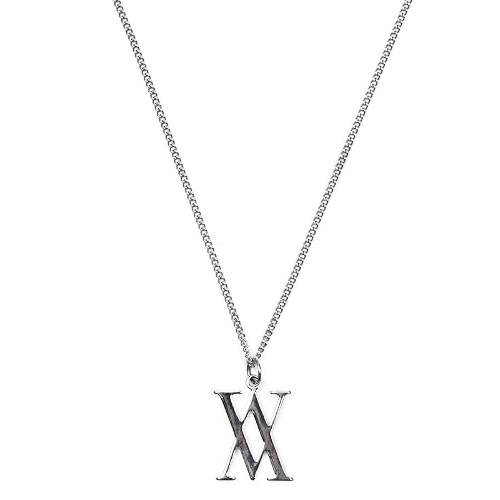 Emblem Double V Necklace