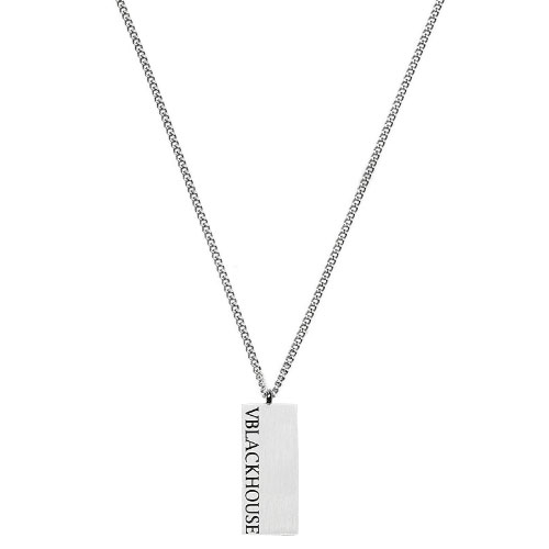 Emblem Logo Square Necklace