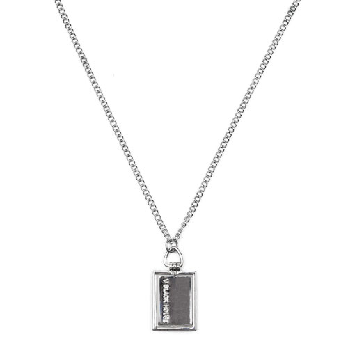 Emblem Block Square Necklace