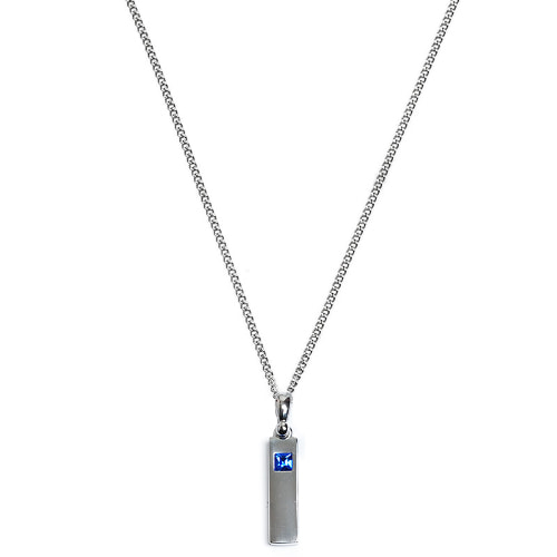 Second M Mini Blue Stone Necklace