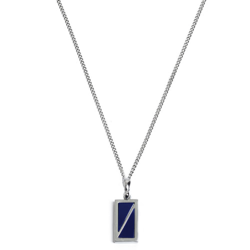 Second M Half Deep Blue Necklace
