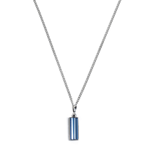 Second M Oval Blue Necklace